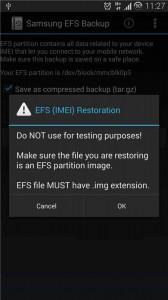 EFS (IMEI) Restoration