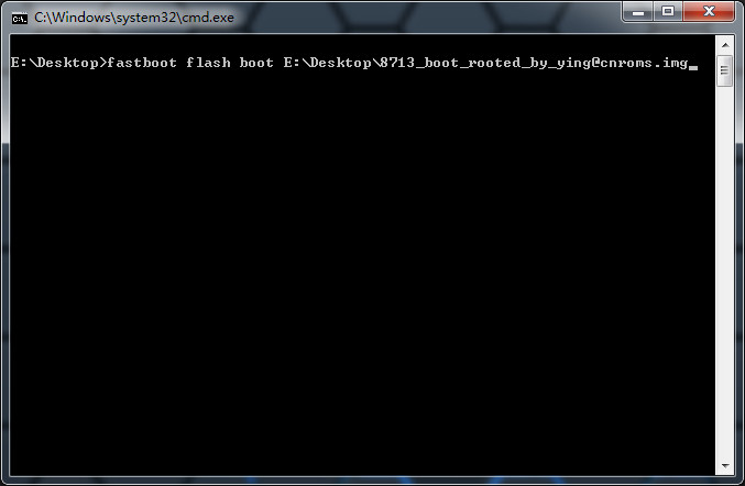 flash boot img from fastboot
